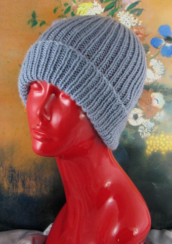 Simple Unisex Ski Beanie by MadMonkeyKnits (507) - Digital Version