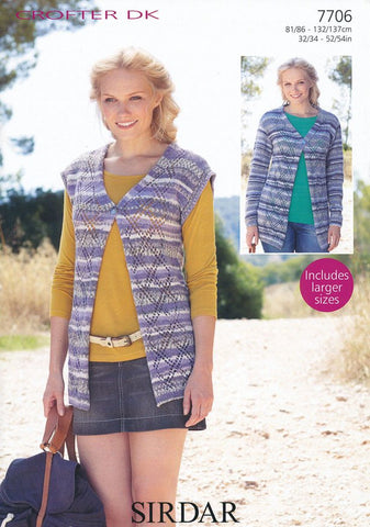 12cd5e867 Cardigan and Waistcoat in Sirdar Crofter DK (7706) – Deramores