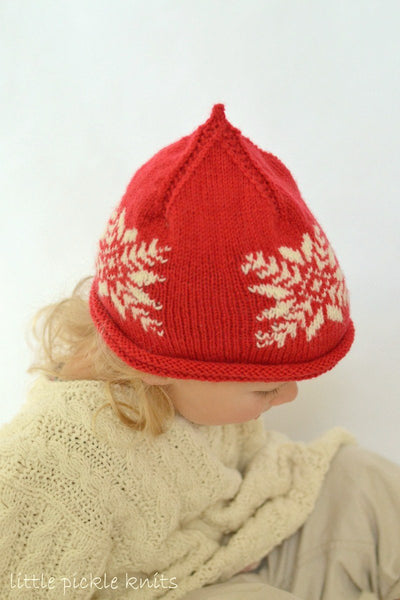 Baby Beanie Snowflake Pixie Hat by Linda Whaley - Digital Version-Deramores