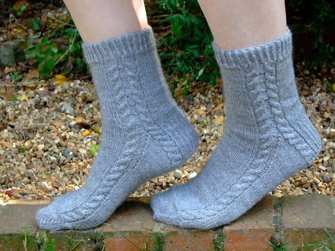 Soft Cable Socks by Sue Stratford - Digital Version