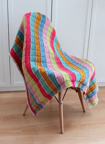 Special Stripy Blanket - Stylecraft Special Chunky - Digital Pattern Only