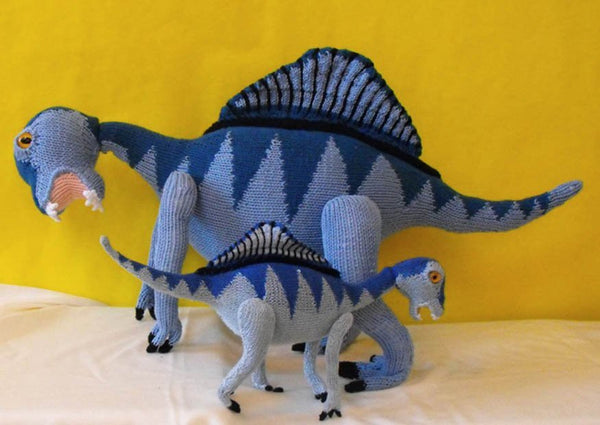 Spencer the Spinosaurus and Baby by MadMonkeyKnits (0150) - Digital Version