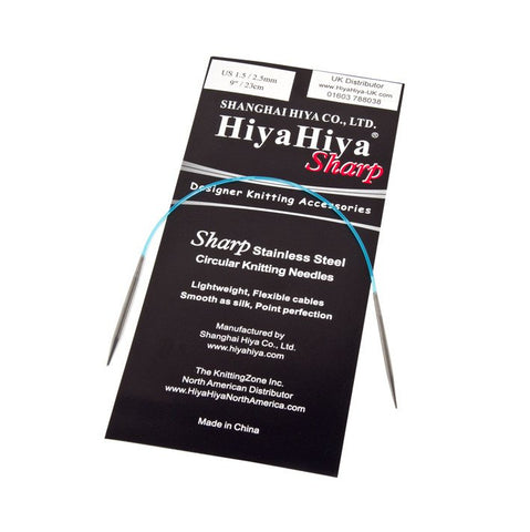 HiyaHiya Sharp Circular Knitting Needles - 40cm-Deramores