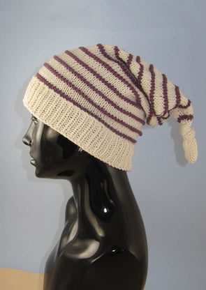Stripe Topknot Pixie Hat by MadMonkeyKnits (853) - Digital Version
