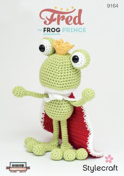 Fred the Frog Prince in Stylecraft Classique Cotton DK (9164)-Deramores