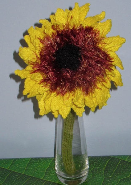 Sunflower Knitting Pattern by MadMonkeyKnits (442) - Digital Version