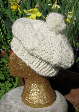 Superfast Cable Tam O'Shanter Hat by MadMonkeyKnits (136) - Digital Version