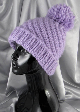 71d55354f47 Superfast Swirl Bobble Beanie Hat by MadMonkeyKnits (505) - Digital Version