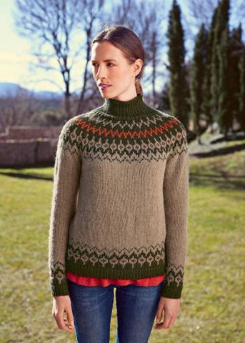 Sweater with Jacquard Yoke in Bergere de France Siberie (705.72)