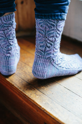 Teasel Socks By Jane Burns in West Yorkshire Spinners Signature 4 Ply