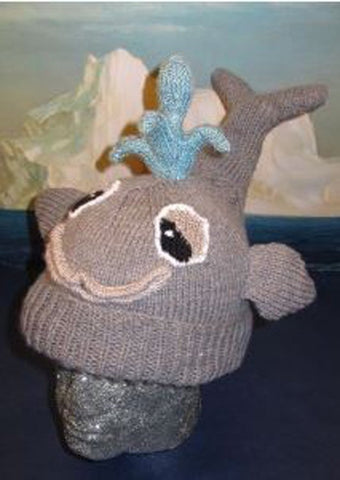 There She Blows Whale Beanie Hat by MadMonkeyKnits (78) - Digital Version