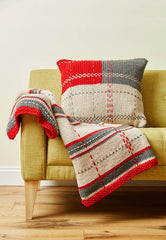 Tartan Throw and Cushion in Deramores Studio Chunky - Digital Version