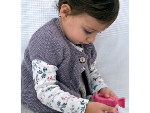 Twinkle Berry Jacket Knitting Kit and Pattern in Rowan Yarn