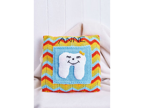 Let's Knit Tooth Fairy Cushion Colour Pack in Deramores Studio DK Knitting Kit