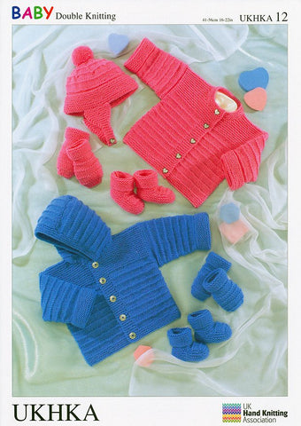 Jacket, Cardigan, Hat, Mittens and Bootees in Baby DK (UKHKA12)-Deramores