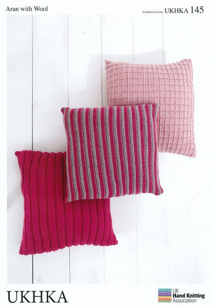 Cushion Covers in Aran with Wool (UKHKA145)-Deramores