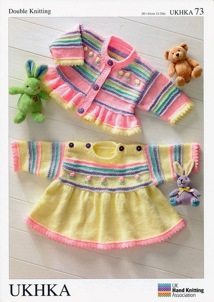 Dress and Cardigan in Baby DK (UKHKA73)