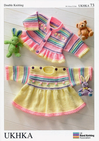 Dress and Cardigan in Baby DK (UKHKA73)-Deramores