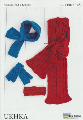 Mittens, Neck Cuff, Headband and Scarf (UKHKA148)