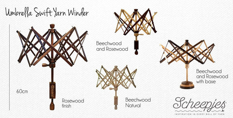 Umbrella Swift Yarn Winder (Beechwood)