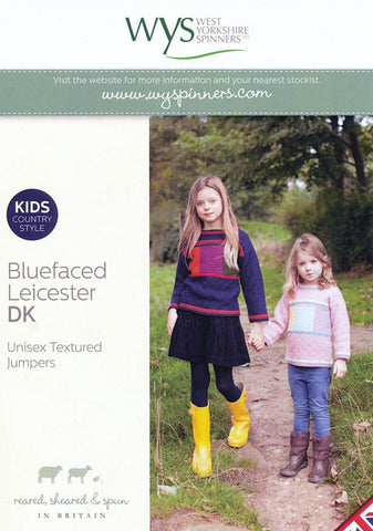 Unisex Textured Jumpers in West Yorkshire Spinners Bluefaced Leicester DK