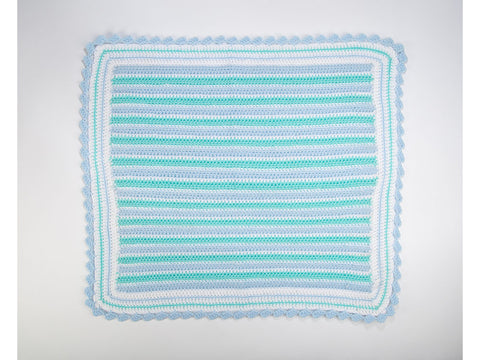 Striped Block Border Blanket in Deramores Studio Baby DK