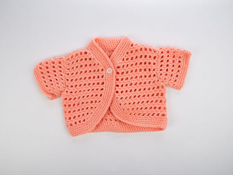 Apricot Bolero Crochet Kit and Pattern