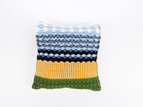 4 Seasons Cushion by Zoë Potrac in Deramores Studio DK