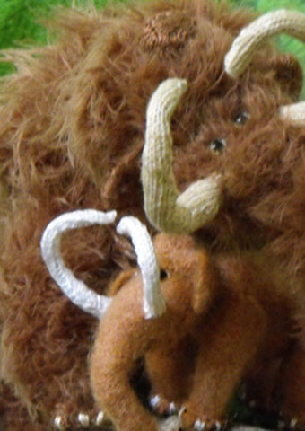 Wilma and Willy Woolly Mammoths by MadMonkeyKnits (4) - Digital Version