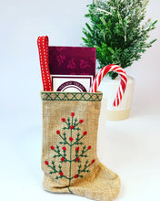 Rustic stocking with a Local milk Chocolate bar
