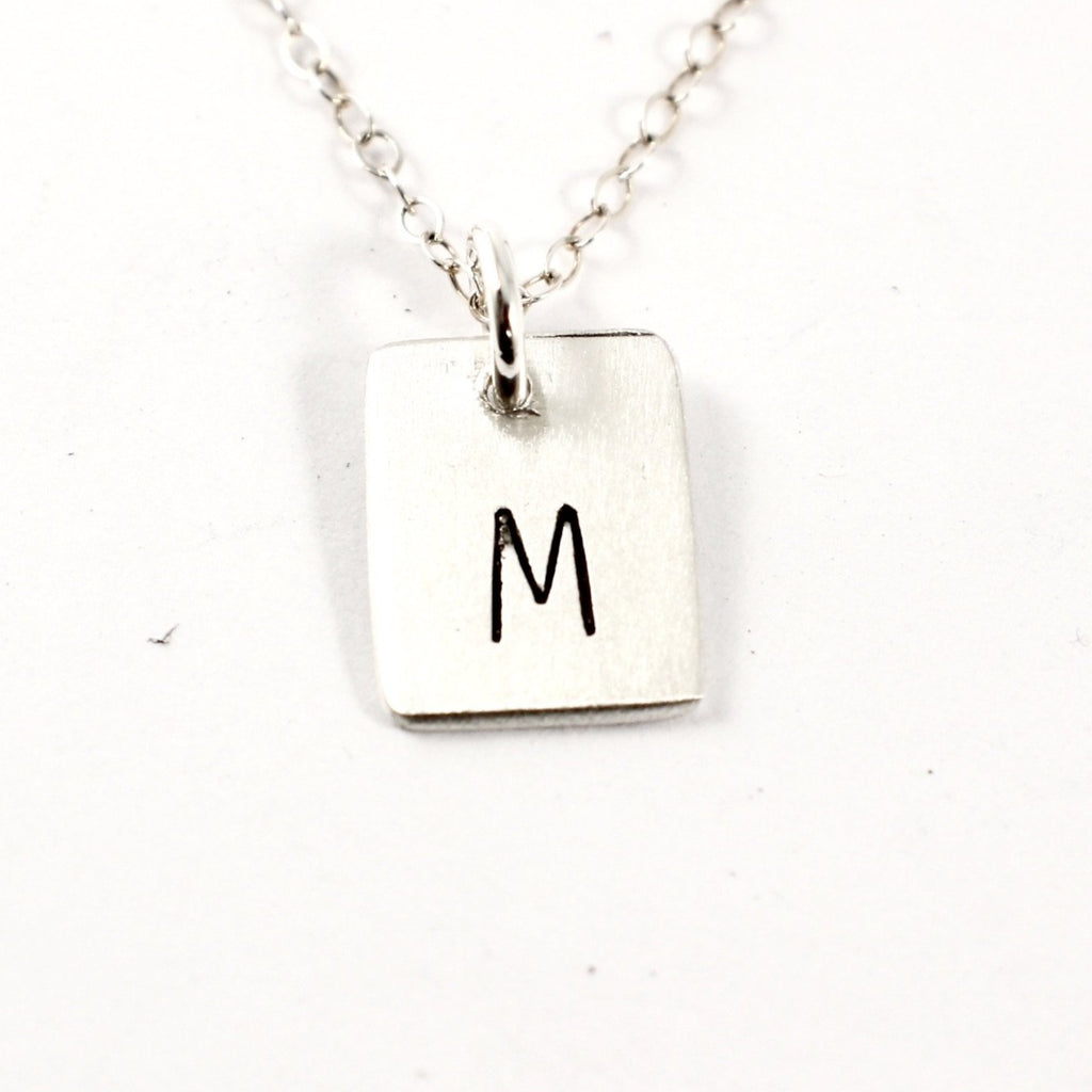 Initial Charm - Sterling Silver Charm / Necklace