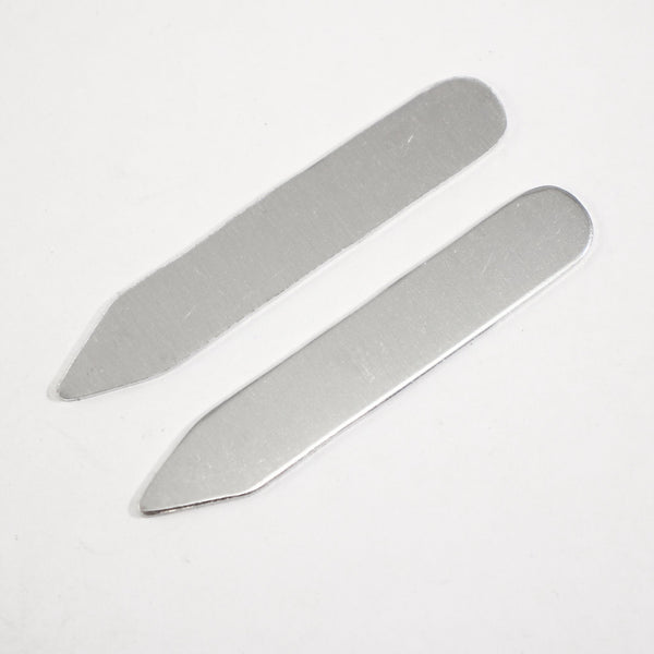 Collar Stay Blanks - Set of 2 - Aluminum - Supply Destash