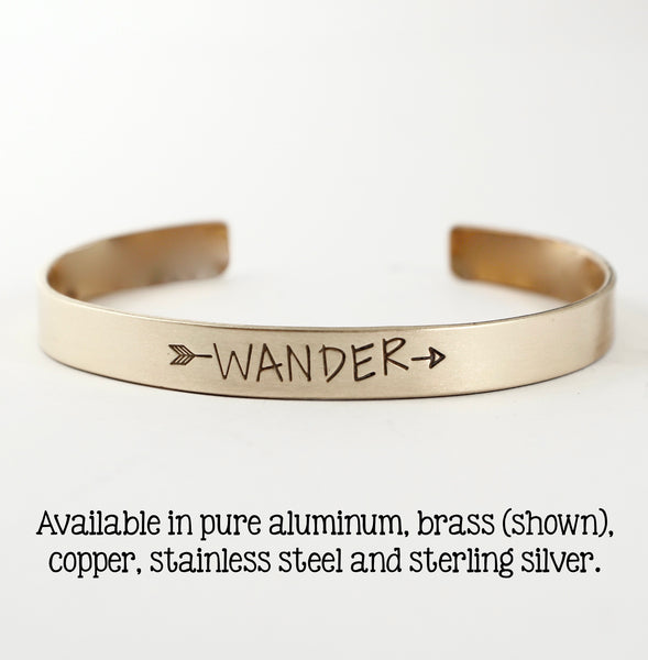 """WANDER"" Cuff Bracelet - Your choice of metals"