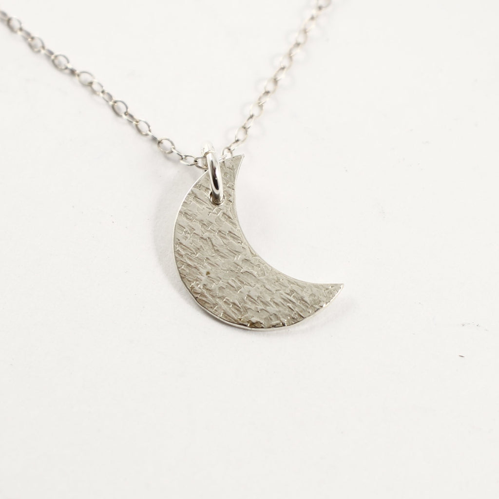 Sterling Silver Moon Charm Necklace