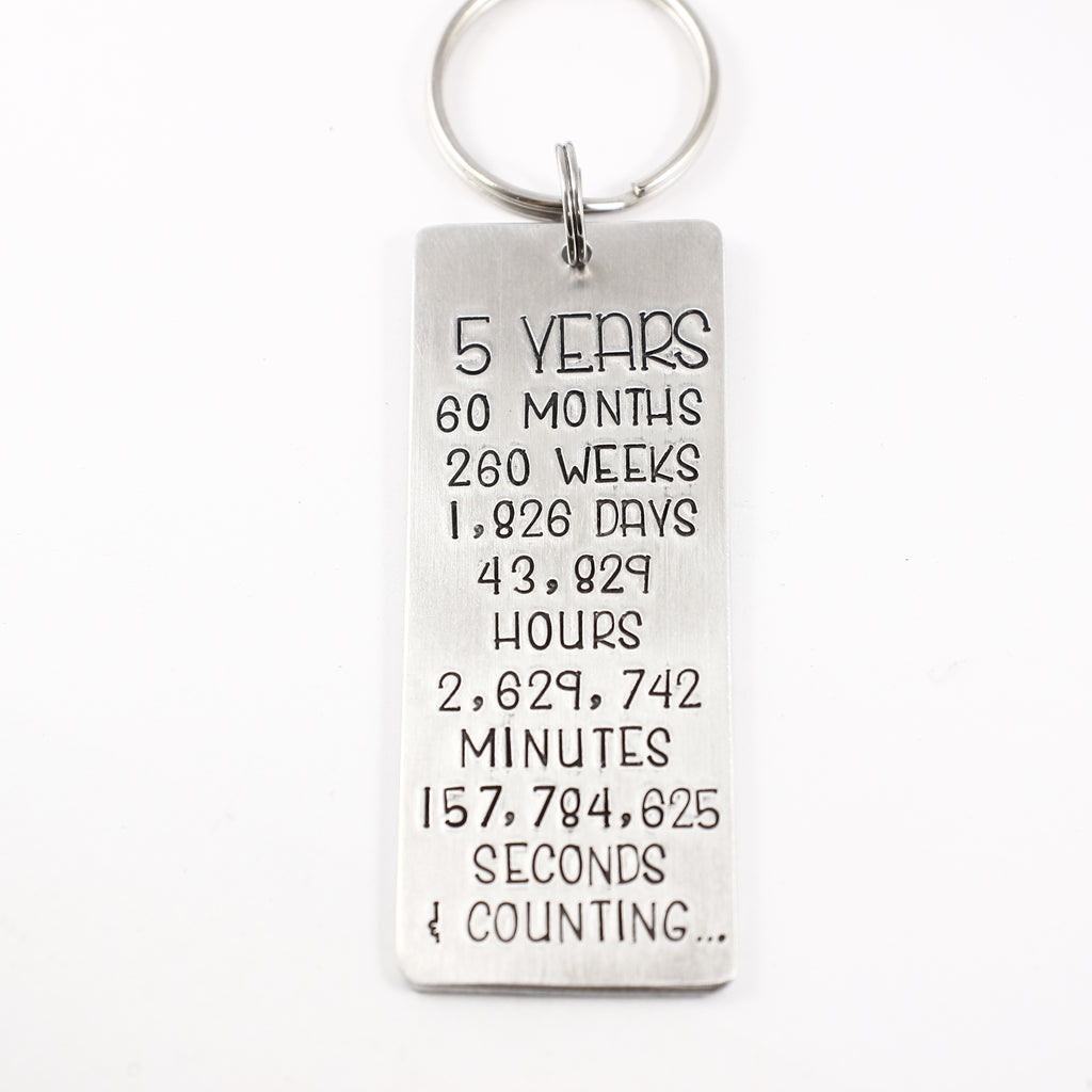 Five Years Keychain - DISCOUNTED and READY TO SHIP