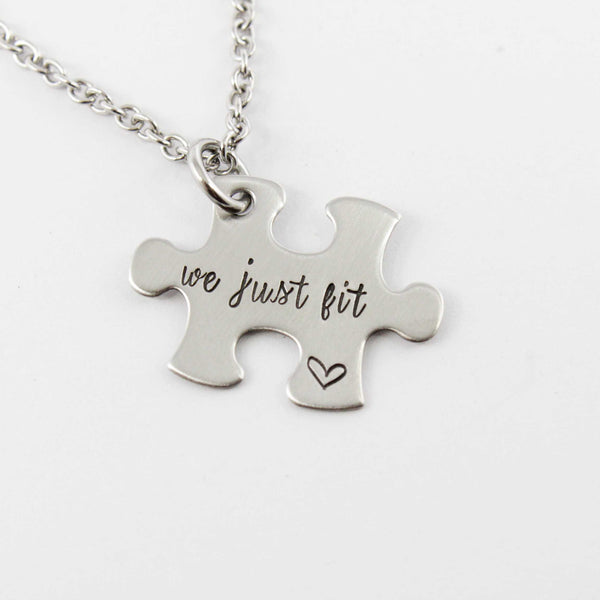 Additional puzzle piece with name, date or initials Charm Add-On / Keychain /  necklace - Completely Hammered