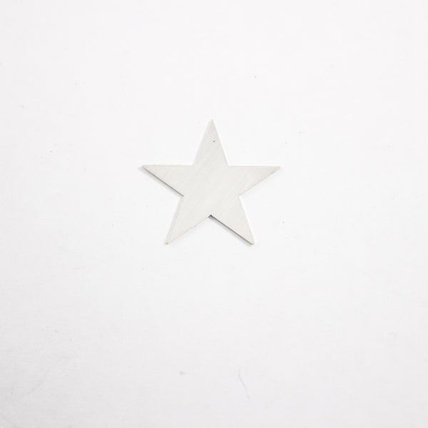 Star Stamping, Sterling Silver 23mm x 23mm - 25G.- Supply Destash