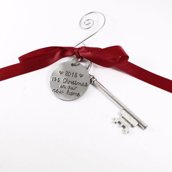 """1st Christmas in our first home - 2018"" Christmas Ornament - Sample - Discounted and ready to ship"