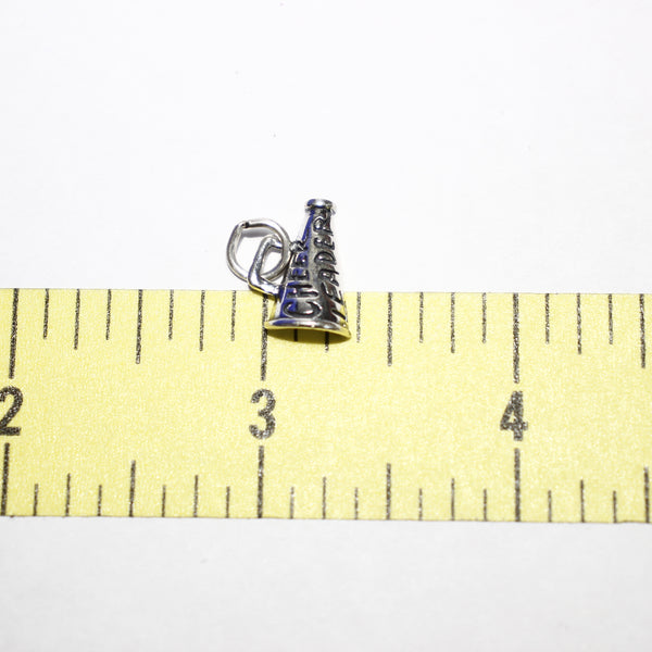 "Sterling Silver ""Cheerleader"" Megaphone Charm - Supply Destash"