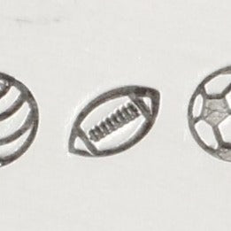 Font Fixation 4mm Football Metal Stamp