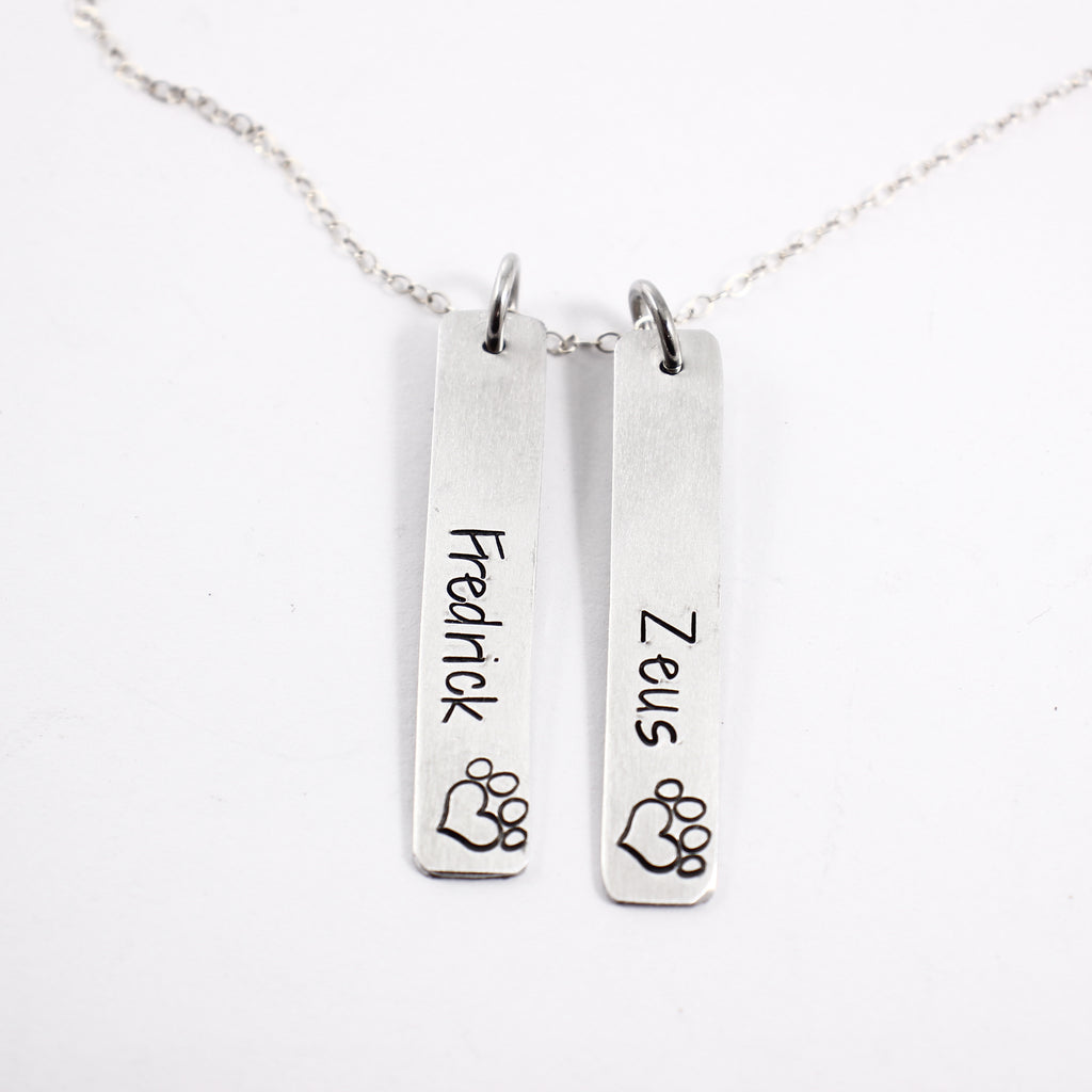 "Pet Memorial Necklace - Sterling Silver - 1.5"" Charm"