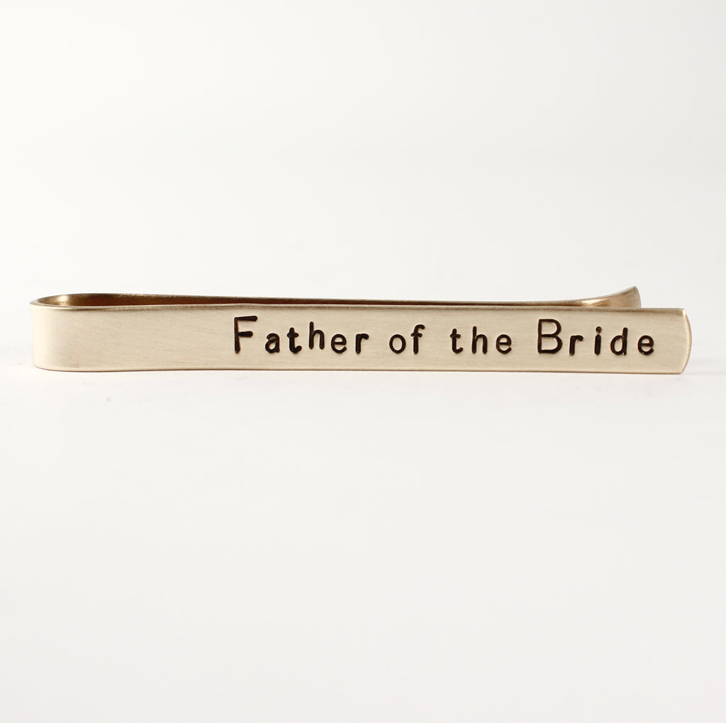 """Father of the Bride"" Tie Bar / Tie Clip - Discounted & ready to ship"