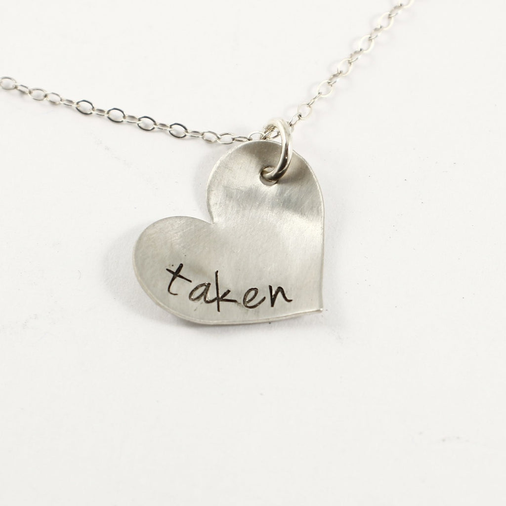 """taken"" Necklace - Sterling Silver - READY TO SHIP"