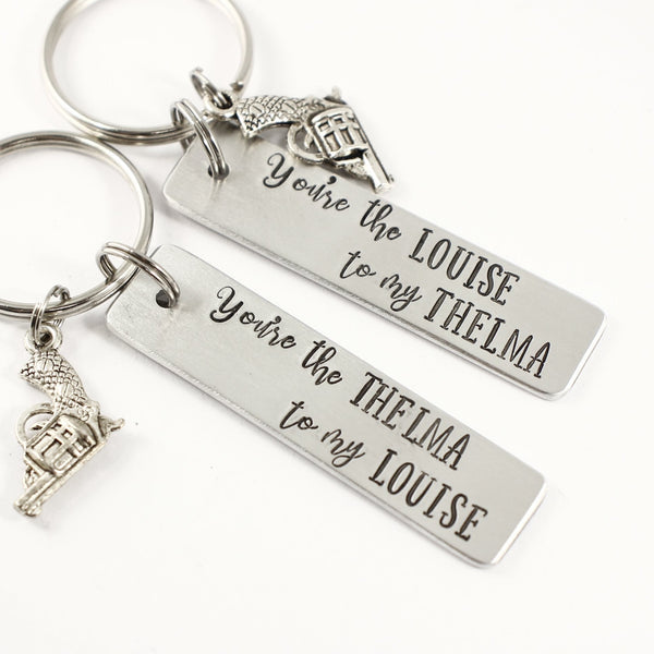 You're the Thelma to my Louise / You're the Louise to my Thelma Keychains - Keychains - Completely Hammered - Completely Wired
