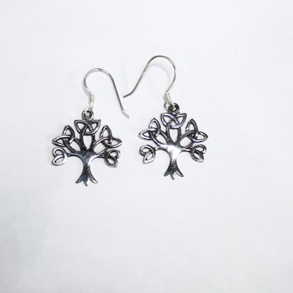 Sterling Silver Tree Of Life Earrings / Charms - Supply Destash