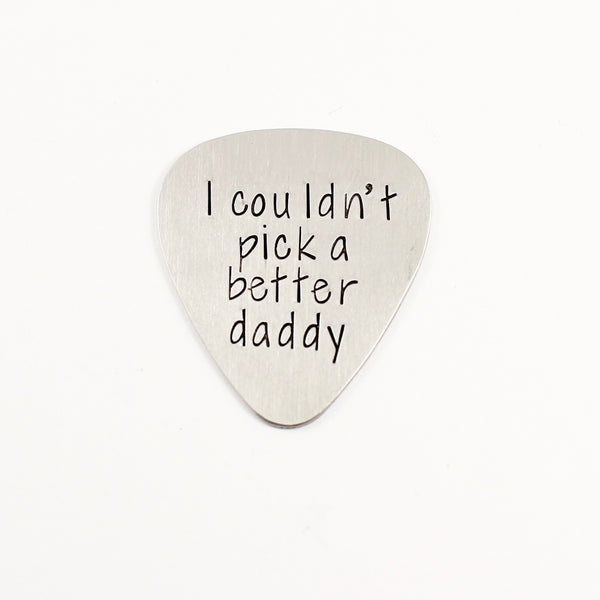 Custom, Hand stamped Guitar Pick