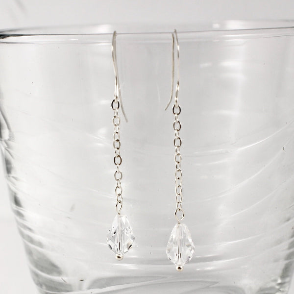 Sterling silver and Swarovski Crystal Dangle Earrings