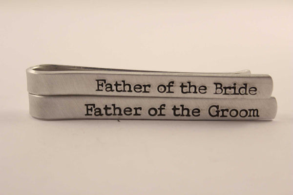Custom Hand Stamped Tie Bar / Tie Clip - Completely Hammered