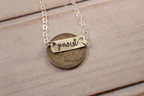"""Persist"" Necklace - Necklaces - Completely Hammered - Completely Wired"