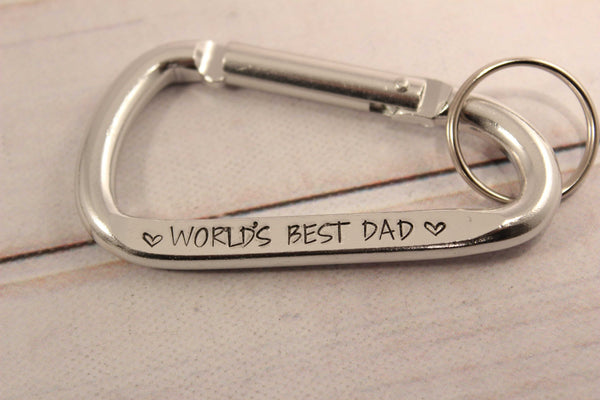 World's Best Dad Carabiner Keychain - Keychains - Completely Hammered - Completely Wired